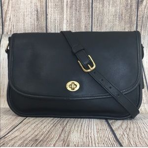 Vintage COACH City Bag Black Leather Purse handbag